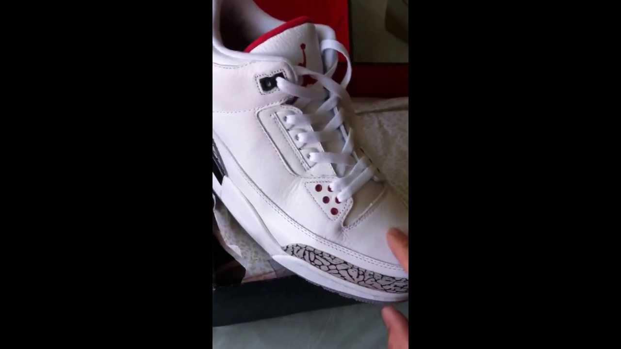 outlet store fc32d 06514 Jordan 3  88 retro mentalkicks review fake! - YouTube