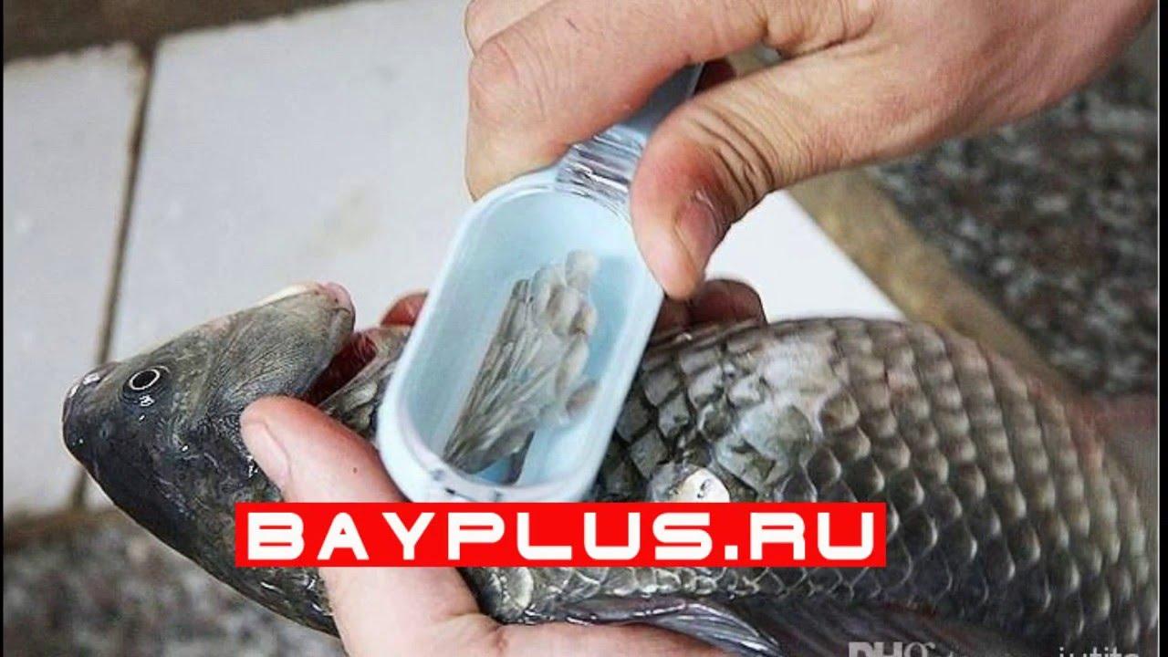 Нож для очистки рыбы с контейнером