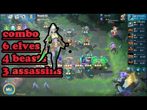 COMBO 6 Elves 4 Beasts 3 Assassins #chessrushindonesia