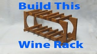 A Wooden Wine Rack -  A Woodworkweb Com Woodworking Video