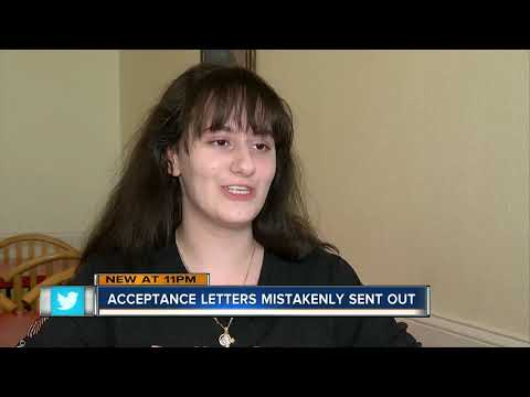 Adrian Long - Florida college sends hundreds of acceptance letters by mistake