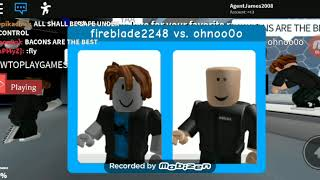 BACONS IN ONE SERVER! | Roblox Auto Rap Battles