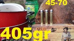 45-70 GOVT - 405 grain bullets SPLITTING LOGS and POTS!!!