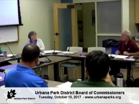 Urbana Park District Board of Commissioners 10-10-17