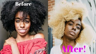 How I Bleached My 4b 4c Natural Hair