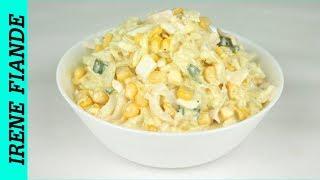 Как приготовить Салат из  кальмаров, с яйцами  и кукурузой. Просто и вкусно!!