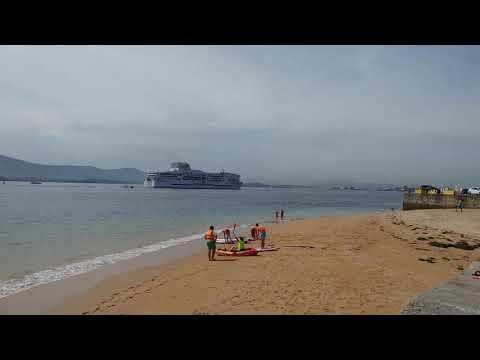 Llegada ferry Britannia al Puerto de Santander