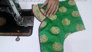 new  model blouse design cutting stitching at home