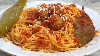 Spaghetti aux boulettes de viande- مقرونة بالكعابر