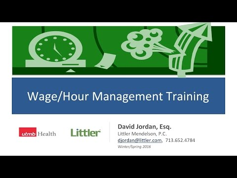 Wage & Hour Management Training