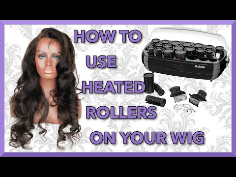 Tutorial How To Use BaByliss Thermo-Ceramic Rollers | Heated Hot Rollers| Raw Indian Wig Virgin Hair