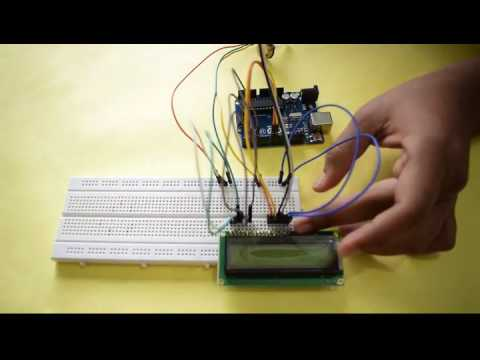 PC Based LCD Scrolling Message Display