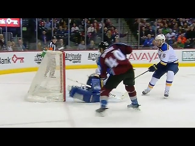 Elliot makes unreal pad save on Tanguay
