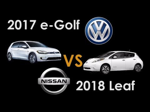 2017 Vw E Golf Vs 2018 Nissan Leaf