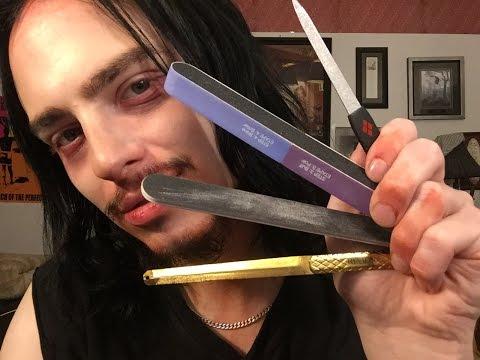ASMR Vampire Filing and Buffing his Nails [no talking]