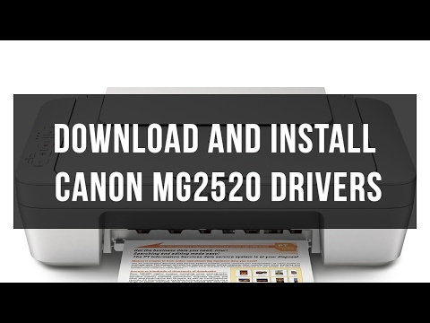 How to download and install Canon MG2520 driver