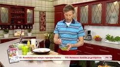 Värikäs broileri-pastasalaatti