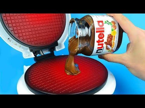 Thumbnail: What if to Drop NUTELLA into Waffle Maker