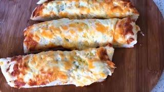 How To Make Homemade Garlic Bread , Cheese Garlic Bread With Garlic Butter Recipe ,Mazar cuisine