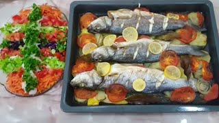 Fırında nefis levrek tarifi/ Fırında büyük balık nasıl pişirilir
