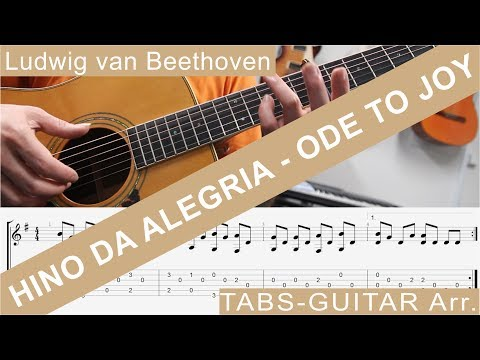Ode to Joy, Hino da Alegria, L.v.Beethoven, Guitar Arrangement, TAB, Sheet Music