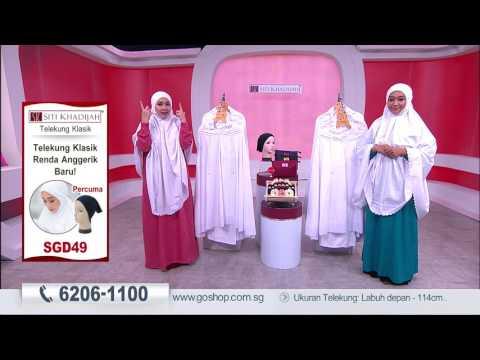 Go Shop Singapore - Siti Khadijah Telekung Klasik with pouch and Anak Tudung