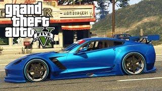 Un tour en Corvette de course sur GTA 5 !? Corvette C7R + Vrai bruit Moteur !