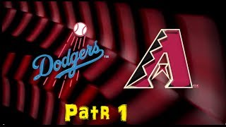 MLB 14 The Show - Los Angels Dogers vs Arizona Diamondbacks Part1/2 full gameplay(洛杉磯道奇vs亞利桑那響尾蛇)