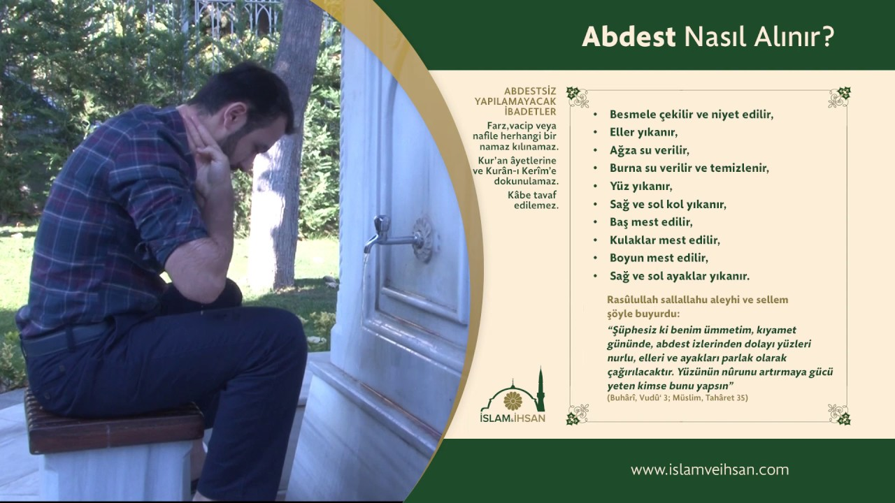 Abdest Nasil Alinir Islam Ve Ihsan