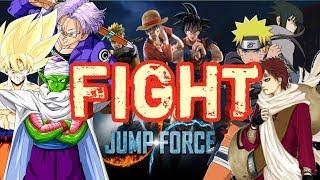 JUMP FORCE   Full Fight Adu kekuatan Dragon Ball Fighters Vs Naruto Shippuden Fighters
