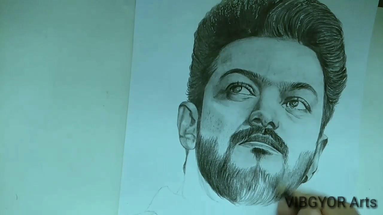 Pencil Drawing Vijay Photos - bestpencildrawing