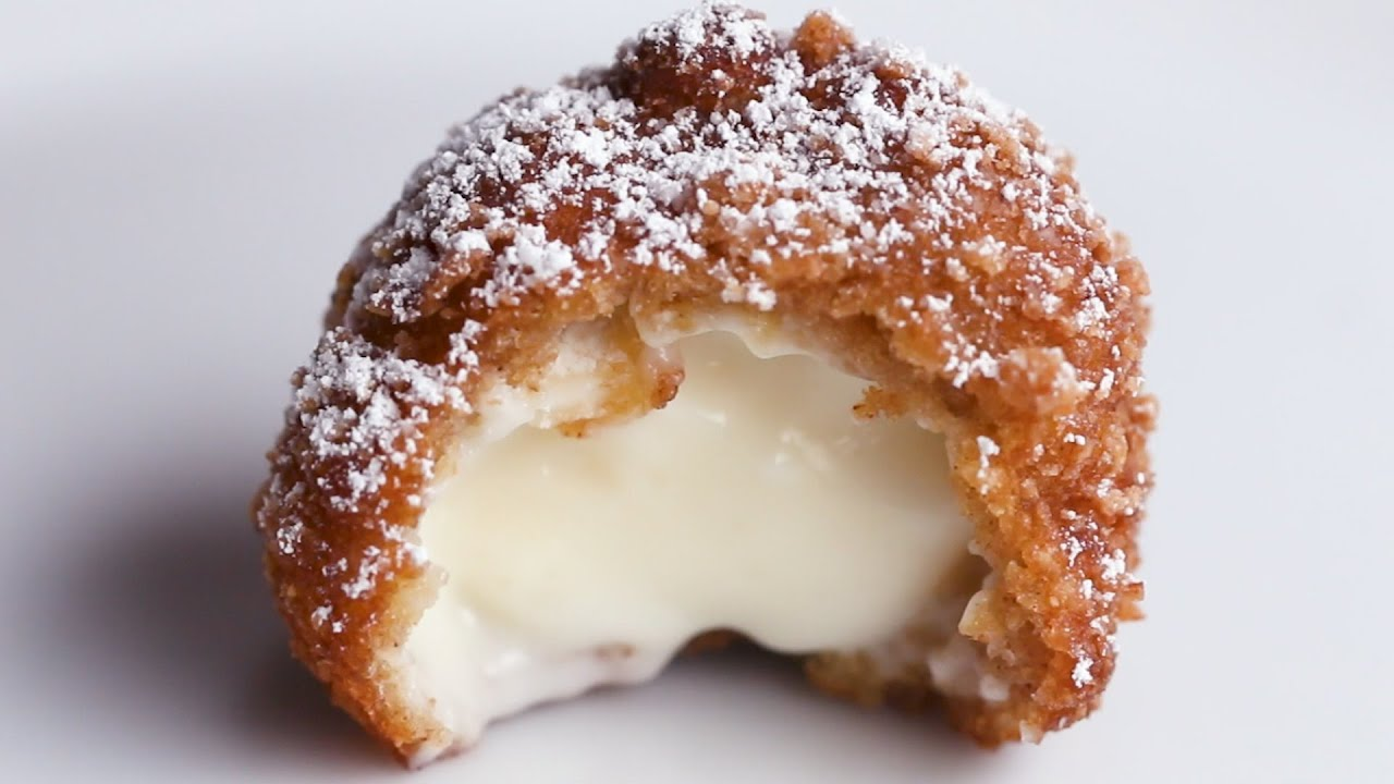 maxresdefault - Fried Cinnamon Crunch Cheesecake Bites