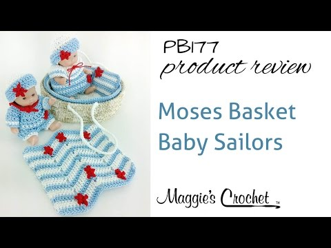 Moses Basket Baby Sailors Crochet Pattern Product Review PB177