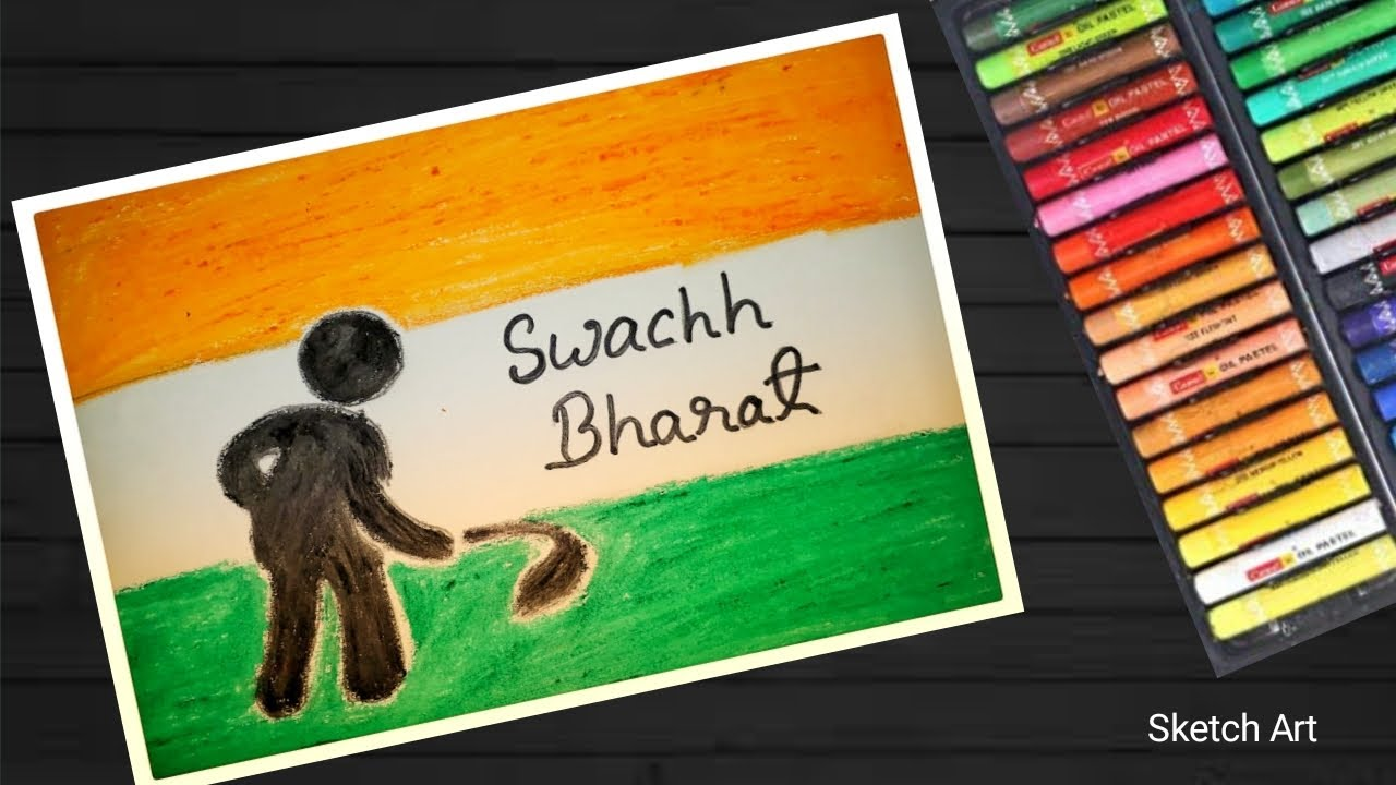 Swachh Bharat Abhiyan Drawing Step By Step Easy Drawing Clean