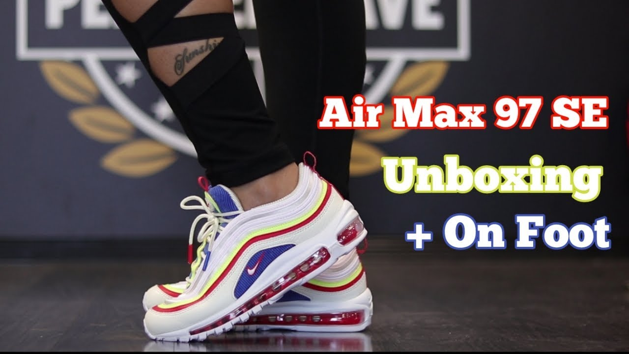 239a9e4da1ba WOMENS AIR MAX 97 SE + ON FOOT - YouTube