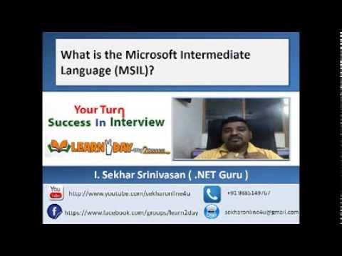What Is MSIL ( Microsoft Intermediate Lanugage )