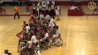 لقطات من مباراتي افتتاح بطولة فزاع الدولية السادسة لكرة السلة للكراسي المتحركة