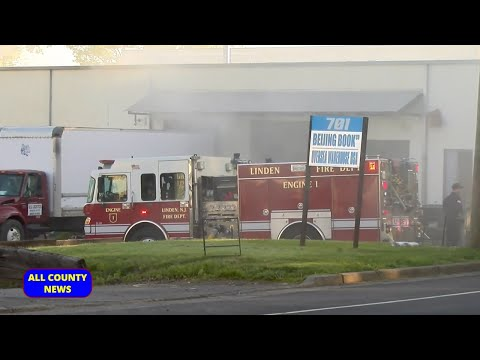 Warehouse Fire at Beijing Book Company in Linden