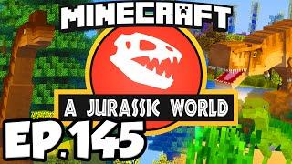 Jurassic World: Minecraft Modded Survival Ep.145 - DINOSAURS PARK ENTRANCE FLOOR!!! (Dinosaurs Mods)