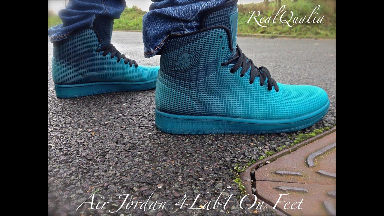 on sale 5b54e 1074a Air Jordan 4lab1 On Feet - YouTube