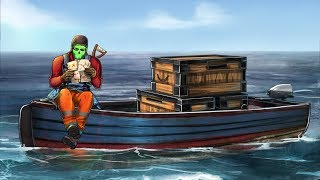 Прожил без дома в море целый вайп Rust/Раст