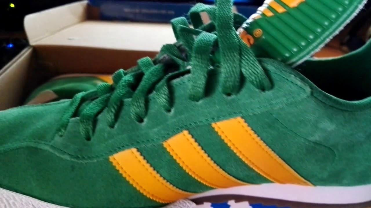 Adidas samba super suede green - YouTube
