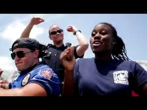 Funky bunch of Hampton Police officers get in on viral lip sync challenge