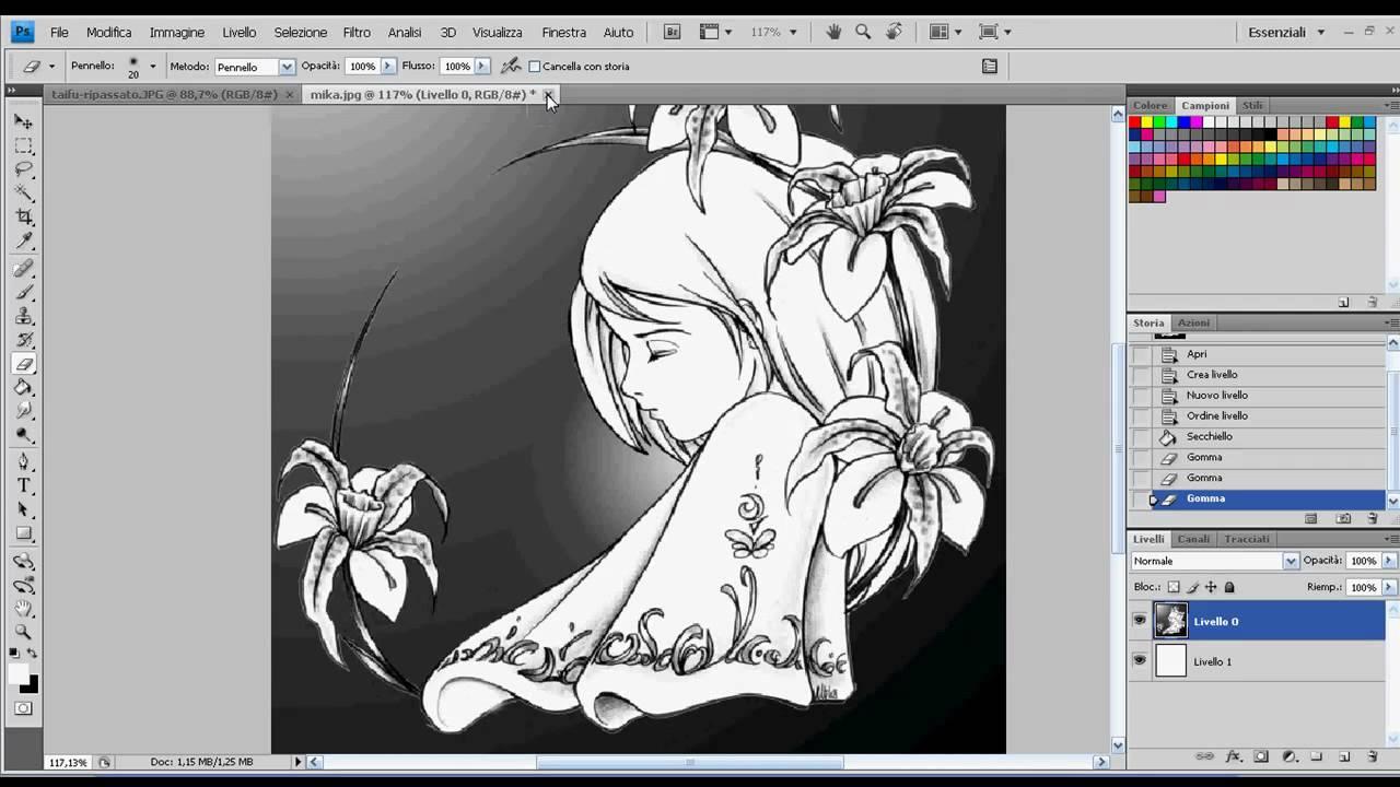 Come Colorare Un Disegno.Tutorial Come Colorare Un Disegno Parte 1 4 Manga Anime Ecc By Photoshoppista Youtube