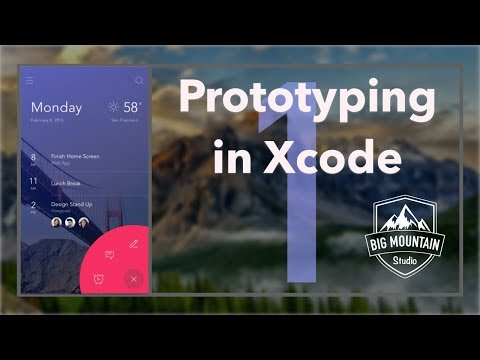 Prototyping Apps in Xcode: Getting Started - Part 1 (iOS, Xcode 8, Swift 3)
