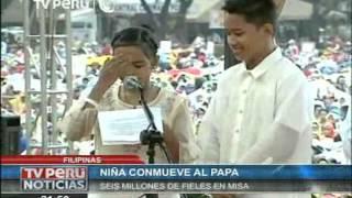Niña filipina le pregunta al Papa por qué 'Dios' permite la prostitución infantil thumbnail