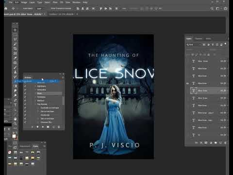 How to make a ghost horror book cover design [photoshop TUTORIAL] thumbnail