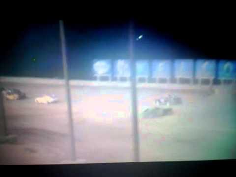 Racecar wreck @ The sweetwater speedway in Rocksprings WY