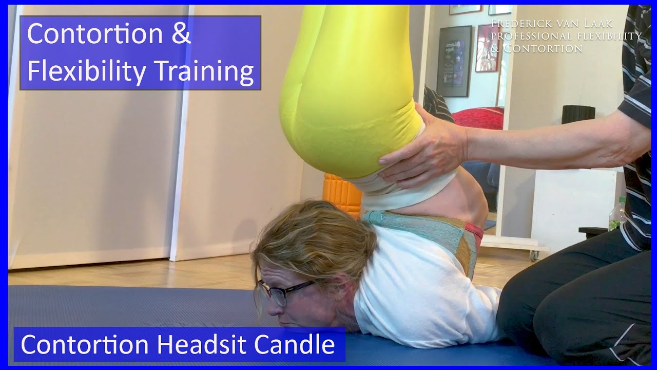 49 Flexyart Contortion Training: Headsit Candle   - Also for Yoga, Pole, Ballet, Dance People