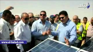 بالفيديو والصور.. مشروعات جادة للطاقة الشمسية بـ'توشكي' لخلق مجتمع عمراني جديد بخدمات متكاملة و 1200وحدة سكنية للعاملين
